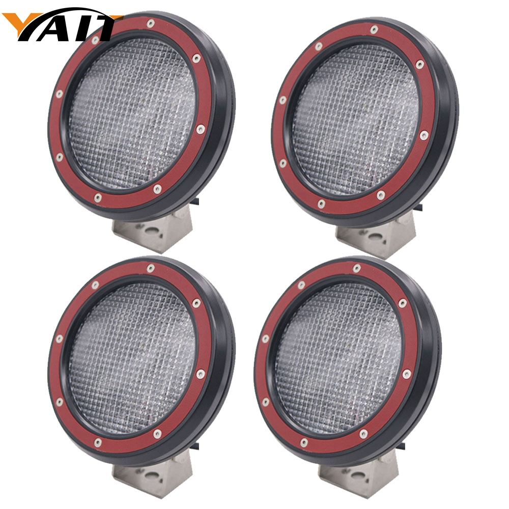 Yait 4pcs 5 inch 51W 5D LED Work Light Spot Flood Beam For 4x4 Offroad Truck Tractor ATV SUV Driving Lamp image