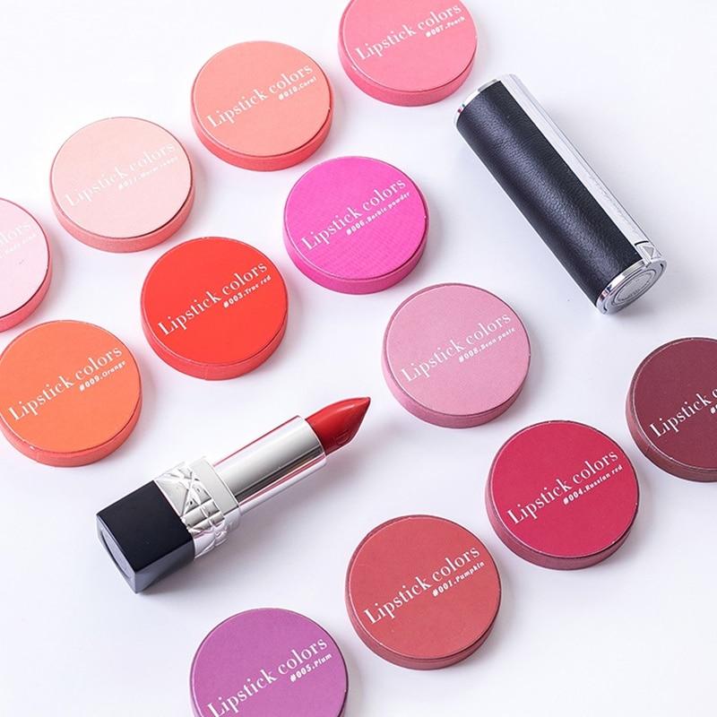 12pcs Lipstick Colors Washi Tape Set Decoration 7mm Red Pink Coral Orange Color Masking Tapes Sticker Scrapbook Stationery A6323