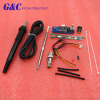 STC T12 DIY Digital Soldering Iron Station Temperature Controller Board Kit For HAKKO T12 T2 Handle