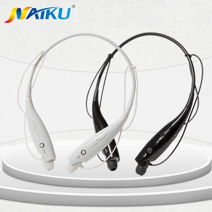 Hot NAIKU-730 Wireless Bluetooth Headset Sports Bluetooth Earphones Headphone with Mic Bass Earphone for Samsung iphone NAIKU730