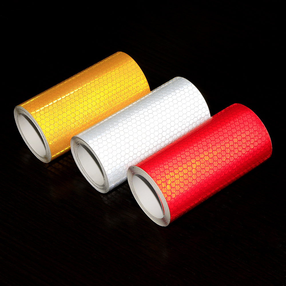 Image 5 - 10cmx3m Safety Mark Reflective tape stickers car styling Self Adhesive Warning Tape Automobiles Motorcycle Reflective Film Decal-in Car Stickers from Automobiles & Motorcycles