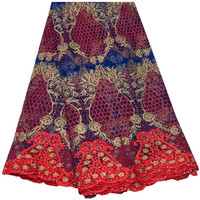 Latest Stones Lace Fabric 2018 Fashion African Lace Fabric Tulle African French Lace Fabric High Quality