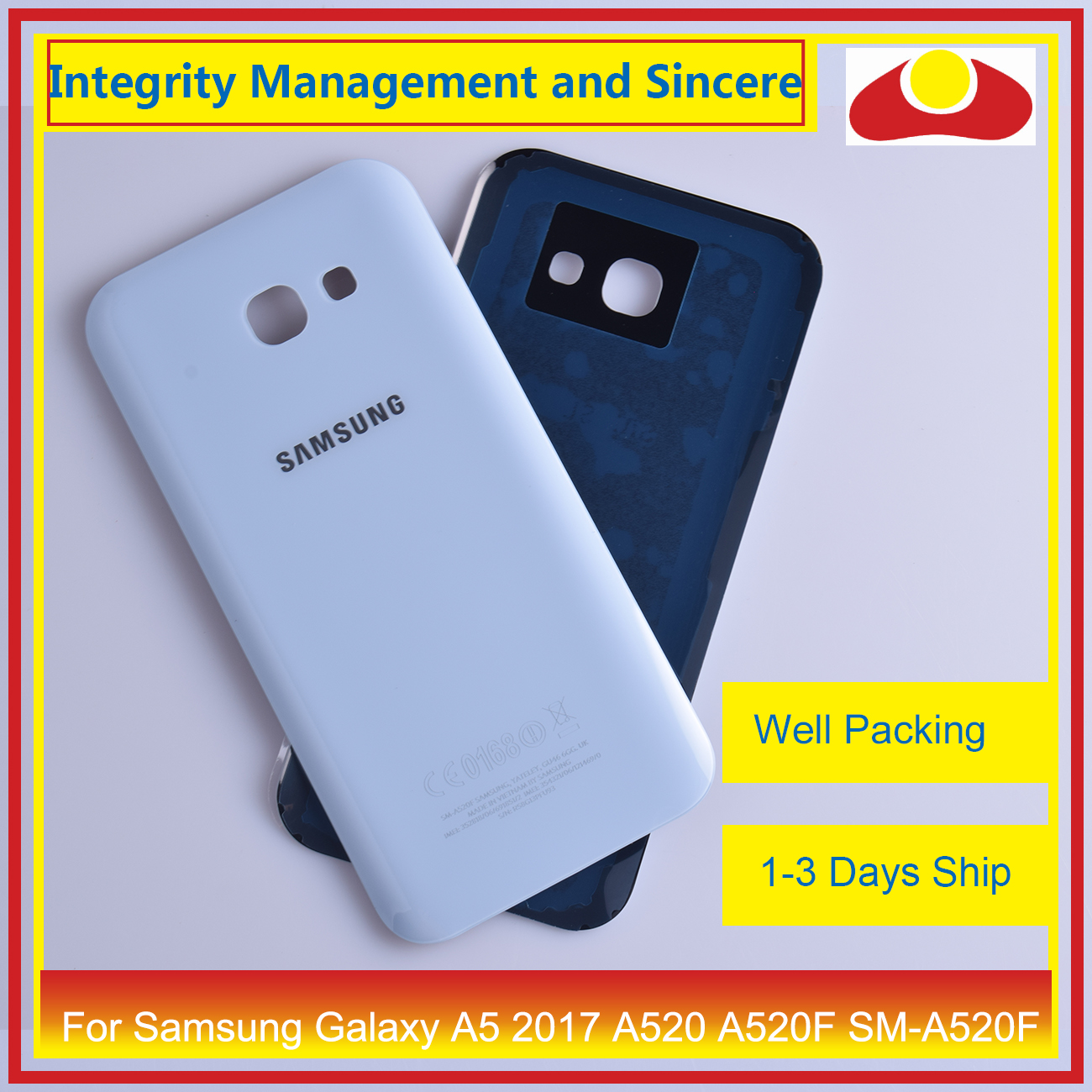 Image 5 - 50Pcs/lot For Samsung Galaxy A5 2017 A520 A520F SM A520F Housing Battery Door Rear Back Cover Case Chassis Shell Replacement-in Mobile Phone Housings & Frames from Cellphones & Telecommunications