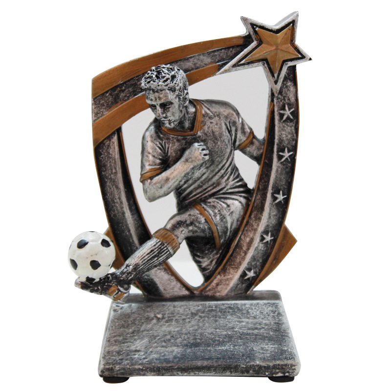Vintage Silver Football Commemorative Trophy Home Decoration Accessories Creative Resin Craft Sculpture Sports Trophy DecorationVintage Silver Football Commemorative Trophy Home Decoration Accessories Creative Resin Craft Sculpture Sports Trophy Decoration
