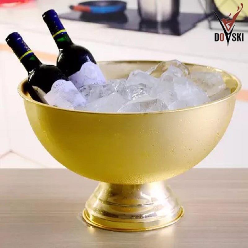 2017 Doski Ice Bucket Bowl Shape Champagne Bucket Large Whisky Beer Wine Cooler Drink Chiller Ice Cubes Container Bottles Holder