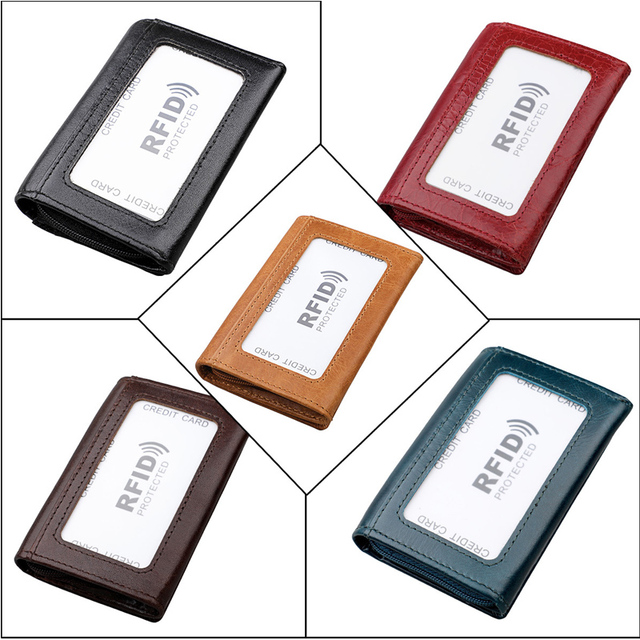 RFID Anti-theft Genuine Leather Card Wallets Men Credit Card Holders Women Card&ID Holder Male Organizer Business Card Holder