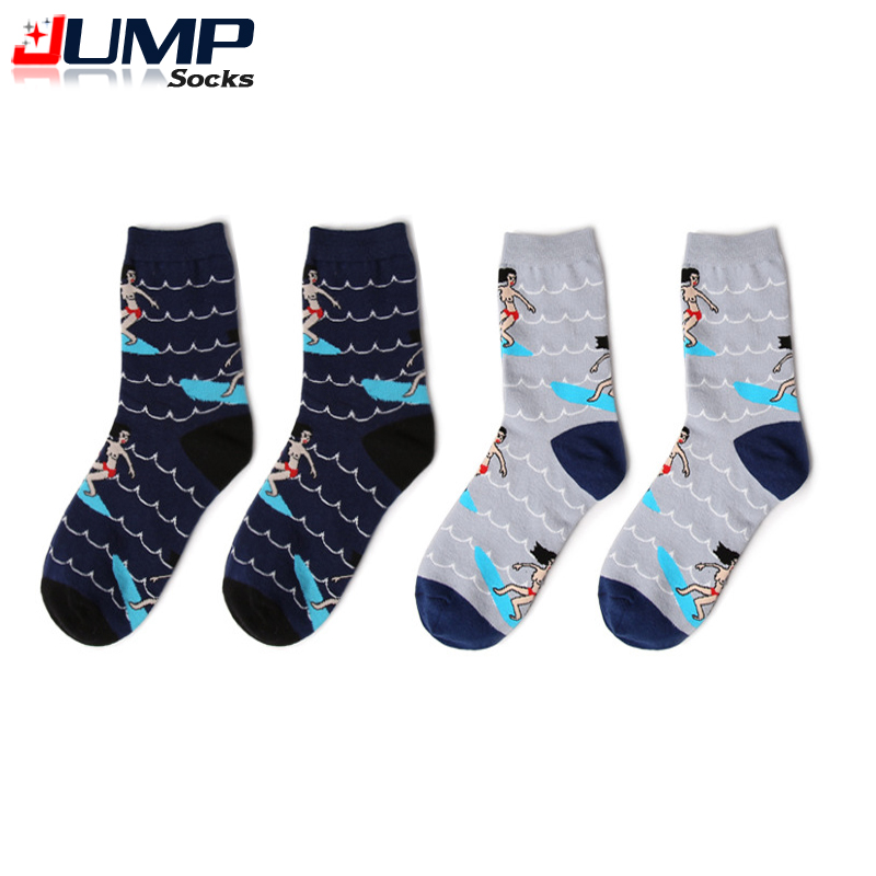 2015 New Cartoon Design Socks Novelty Women and Men Nude Illustration Neutral Lovers Socks
