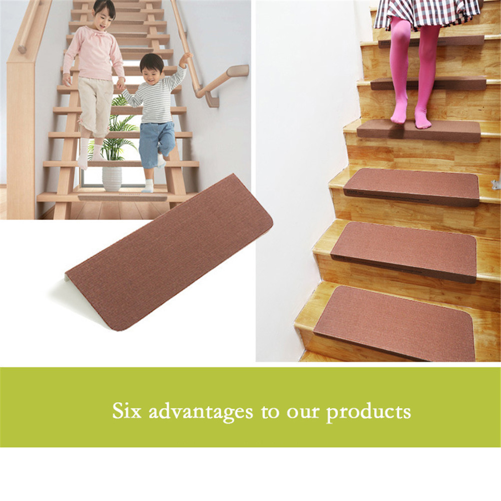 5cs Self-adhesive Non-slip Floor Staircase Carpets Solid Claw Pattern Glow In Dark Stair Treads Protector Mats Home Decor