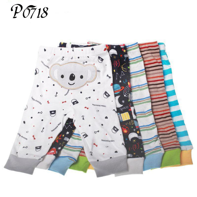 PP Pants Baby Trousers Kid Wear 5 Pieces a Lot Pants 2018 Hot Soft Model for Autumn Spring Infant Cotton Clothing Random Color