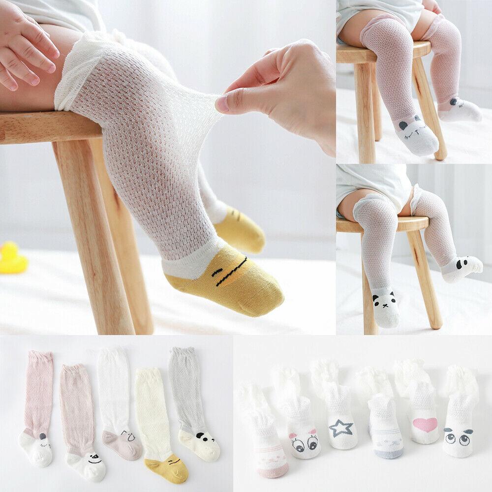 3 Pairs Baby Girls Boys Long Socks Toddler Breathable Anti-mosquito Knee Socks