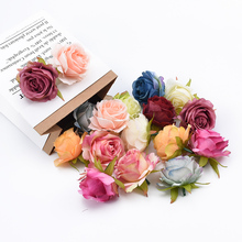 Gifts-Box Bridal-Accessories Roses-Head Flower-Wall Artificial-Flowers Clearance Scrapbooking