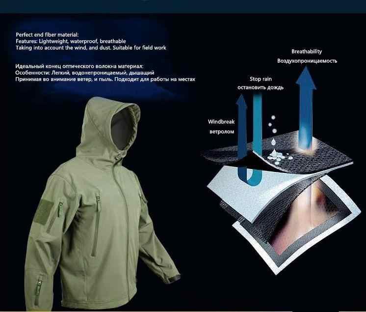 سترة Lurker ذات غطاء لين على شكل سمك القرش تاد فولت 4.0 ملابس عسكرية خارجية سترة تكتيكية مقاومة للماء من الصوف ملابس مضادة للرياح