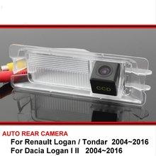 Для Renault Logan/Tondar для Dacia Logan I II камера заднего вида ночного видения камера заднего вида Автомобильная камера заднего вида HD CCD для автомобиля
