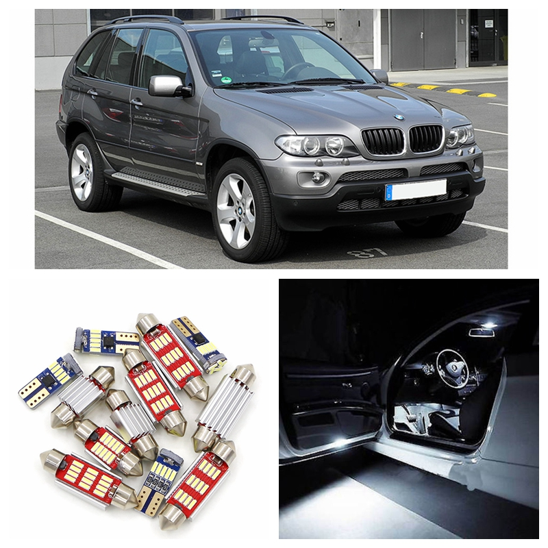 20pcs Super Bright White Canbu Car LED Light Bulbs Interior Package Kit For 2001-2006 BMW X5 E53 Map Dome Trunk Footwell Lamp e cap aluminum 16v 22 2200uf electrolytic capacitors pack for diy project white 9 x 10 pcs