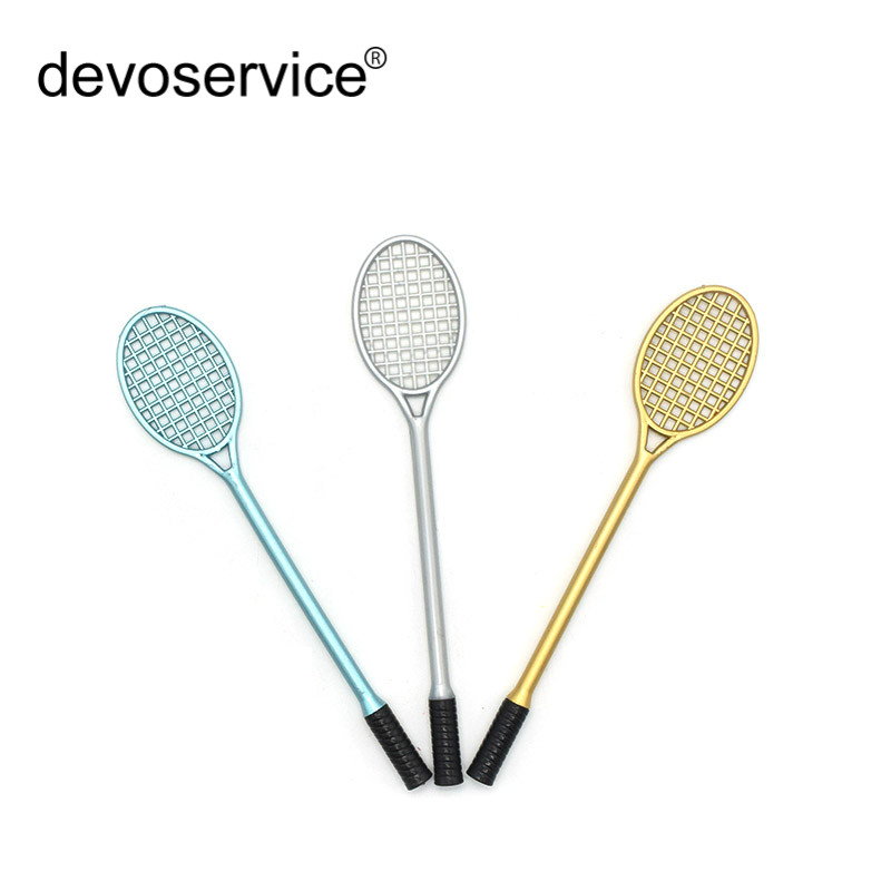 1Pc Kawaii Badminton Racquet Modeling Gel Pen School Stationery For Children Gifts 0.5mm ...
