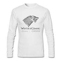 Tee Tops Man Game Of Throne Funny Winter Is Coming Tee Shirts Casual Long Sleeve T
