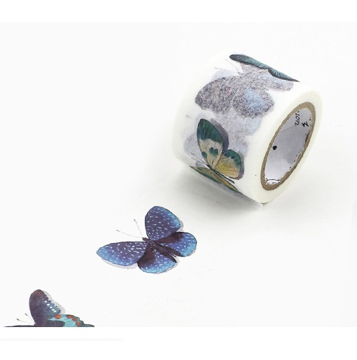 Boxed 1Roll=30mm*7M Butterfly Pattern Japanese Washi Decorative Adhesive Tape DIY Masking Paper Tape Label Sticker Album Gift