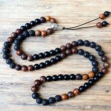 Ожерелье с бусинами из Натурального Коричневого камня 8 мм
