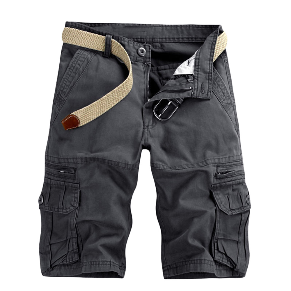 Fashion new arrival pantsMen's Casual Pure Color Outdoors Pocket Beach Work Trouser Cargo   Shorts   high quality W307