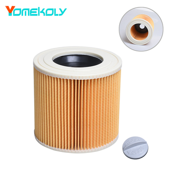 цена на 1PC Replacement Wet & Dry Vacuum Cleaner Filter for Karcher A2004 A2054 A2204 A2656 WD2.250 WD3.200 WD3 Cartridge HEPA Filter