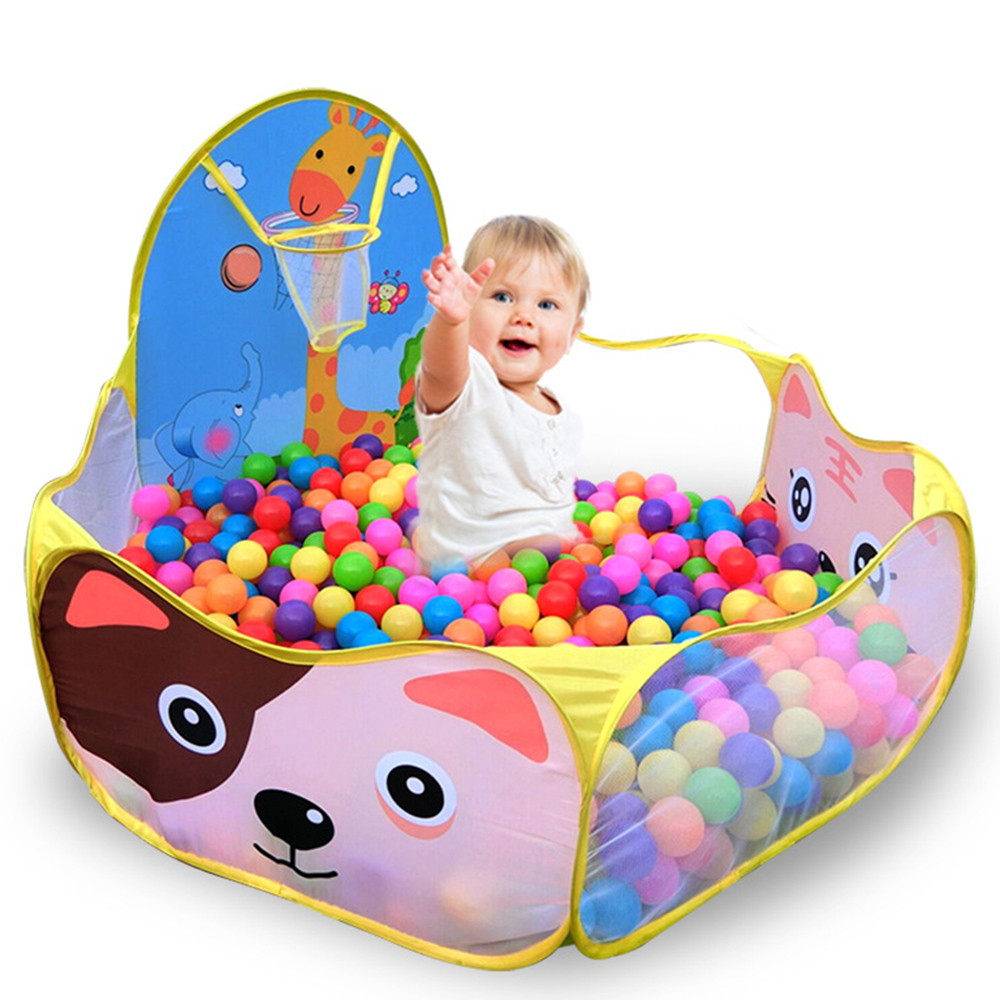 1.2M Baby Playpens+50pcs 6cm balls For Childrens Foldable Kids Ball Pool Outdoor/Indoor Game Tent Activity Toy Fencing Pop Up