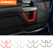 SHINEKA Car Styling Auto Door Interior Decoration Trims Inner Moulding Cover Frame Strips Sticker Kit for Ford F150 2015+ недорого