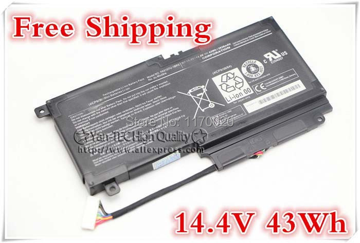 14.4V 43Wh original laptop battery For Toshiba Satellite L55 L50 L50 L55t -A 2838mah piles P50 - A PA5107U -1BRS Free shipping free shipping v000318010 for toshiba satellite l50 a l55 a l50t a l55t a laptop motherboard all functions 100% fully tested