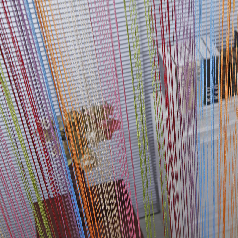 1 * 2 M Multicolor Line String Window Curtains Home Decoration Blinds Tulle Window Door Curtains For Living Room VBJ28 P30