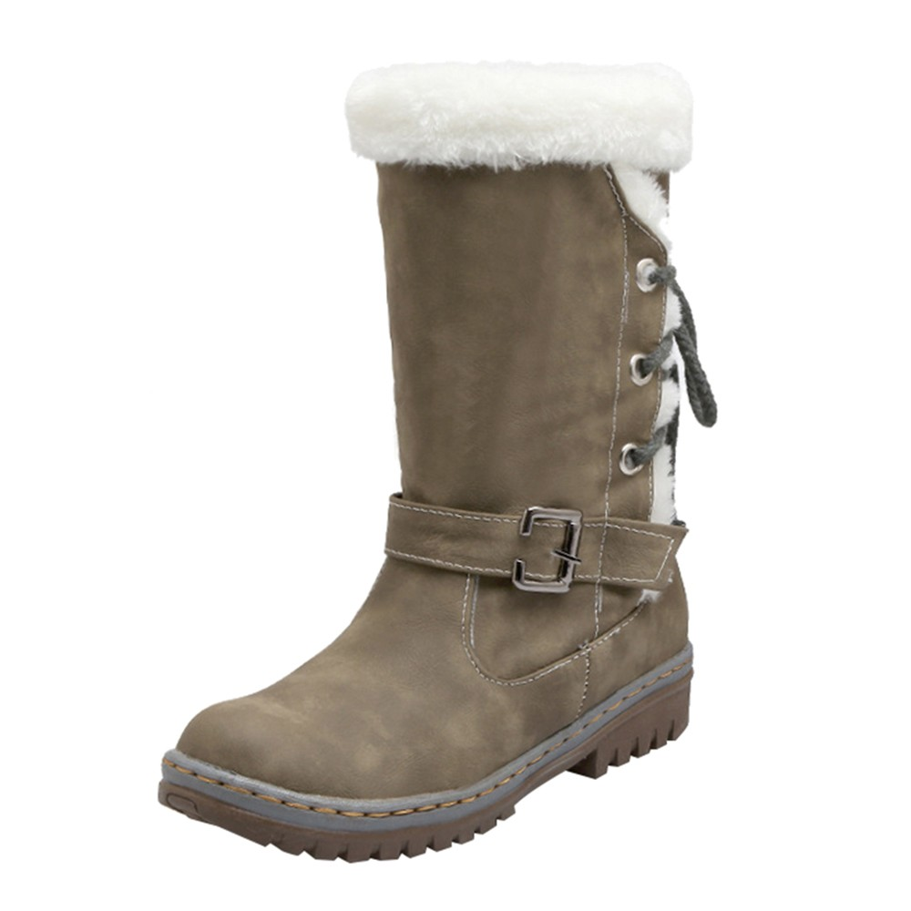 Plus size 35-43 new winter boots women fashion snow boots new long snow boots women platform mid calf boot platform bowkont flocking snow boots page 5