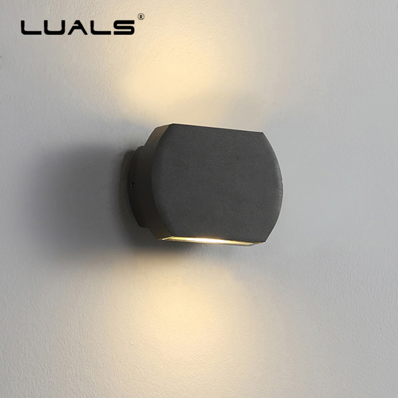 Outdoor Waterproof Aluminum Wall Lamp Simple Modern Wall Light Fashion Art Wall Lamps LED Wall Lights Indoor Outdoor Lighting outdoor wall lights simple modern wall light waterproof led wall lamp luxury villa aluminum wall lamps hallway art deco lighting