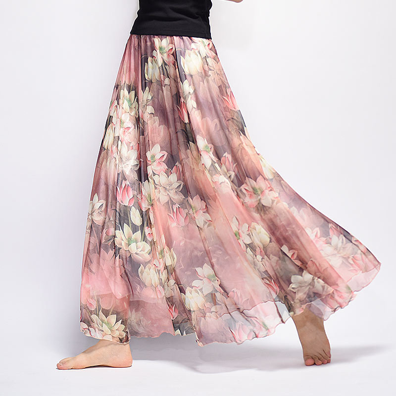 2b21bca1db88 Summer Women Long Skirt Chiffon Saia Beach Bohemian Maxi Skirts 2018 High  Waist Tutu Casual Vestidos Harajuku Saia Longa-in Skirts from Women's  Clothing on ...