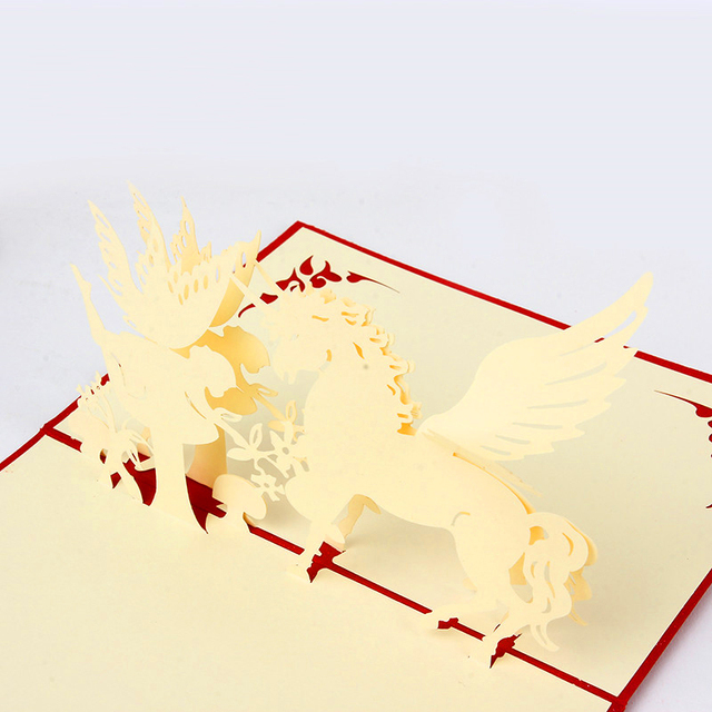 3D Birthday Cards Pop Up Card For Kids POP Greeting Handmade Crafts Best Gifts Friends