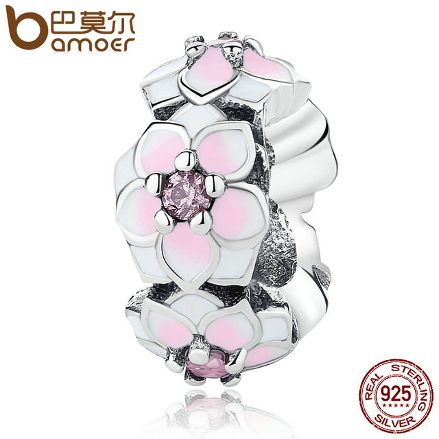 Sterling Silver Magnolia Bloom Charm