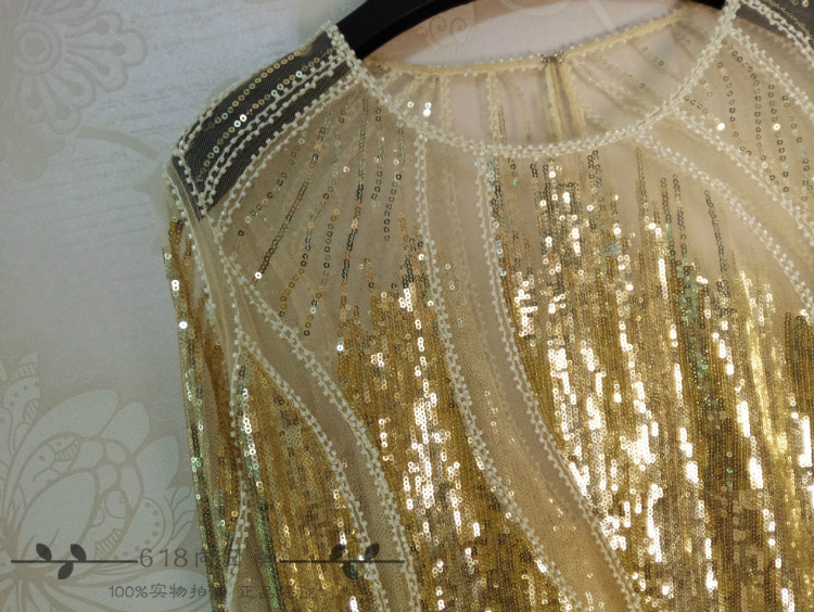 Fourrure or Blusa Noir Perle Dentelle L'industrie Camisetas Manteau Au Chemise New Sequin rose Tops Manches De 2017 La Perspective Lourde Forage Diamant Tête Basant 7wnBSxqA5