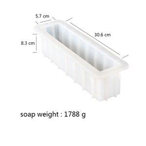 Image 2 - Nicole Loaf Molde de silicona para jabón, herramienta de fabricación de jabones de remolino, Rectangular, blanco, hecho a mano
