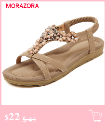 HTB1XhsvF25TBuNjSspmq6yDRVXal MORAZORA Plus size 34-46 New genuine leather sandals women shoes fashion flat sandals cow leather summer rhinestone ladies shoes