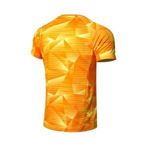 Image 4 - Li Ning, мужские футболки для бадминтона, дышащие, комфортные, для фитнеса, соревнований, верхняя подкладка, спортивные футболки, футболка, AAYN259 MTS2845