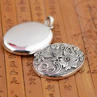 FNJ Gawu Box Flower Pendant 925 Silver Hang Pure Original S925 Thai Silver Pendants Women for Jewelry Making