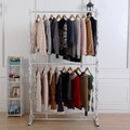, wrought iron clothes rack, display shelf Indoor hanger assembly island shelf More bold frame double wedding dresses