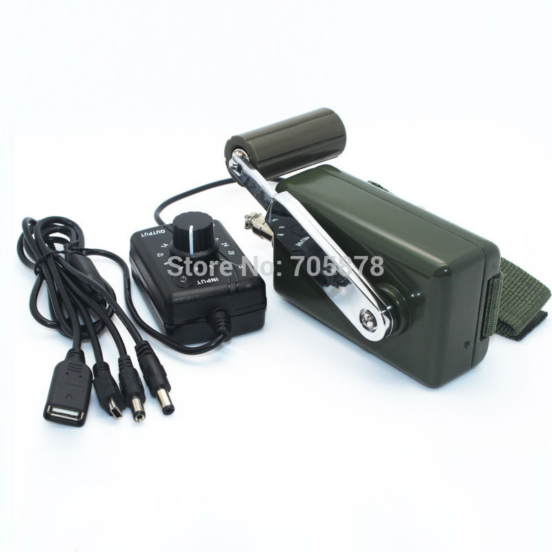 Hand Crank USB Phone Charger Dynamo Hand Crank Generator