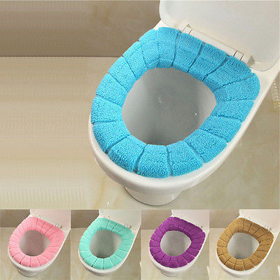 Hot Soft Toilet Seat Cover Cute Lid Top Warmer Washable Bathroom Product