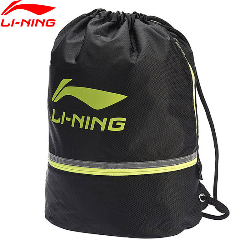 Li-Ning Unisex Sports Bags 21L Polyester Adjustable String Big Capacity Portable Shoe Bag LiNing Sports Backpack ABLN066 ZYF302