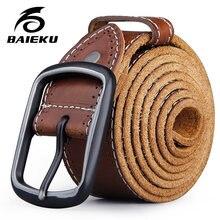 8d42a5863ab De cuero genuino de los hombres correa de cuero de grano completo  cinturones hebilla retro Casual cinturón de hombre 3