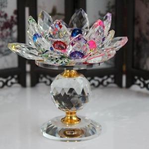 Image 2 - XINTOU portavelas de Metal con diseño de flor de loto, candelabros con diseño de flor de loto, decoración para el hogar Feng Shui