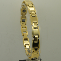 22 1cm 8 7 Inch 10mm Width Classic Champagne Gold Plating Men Jewelry Hi Tech Magnetic