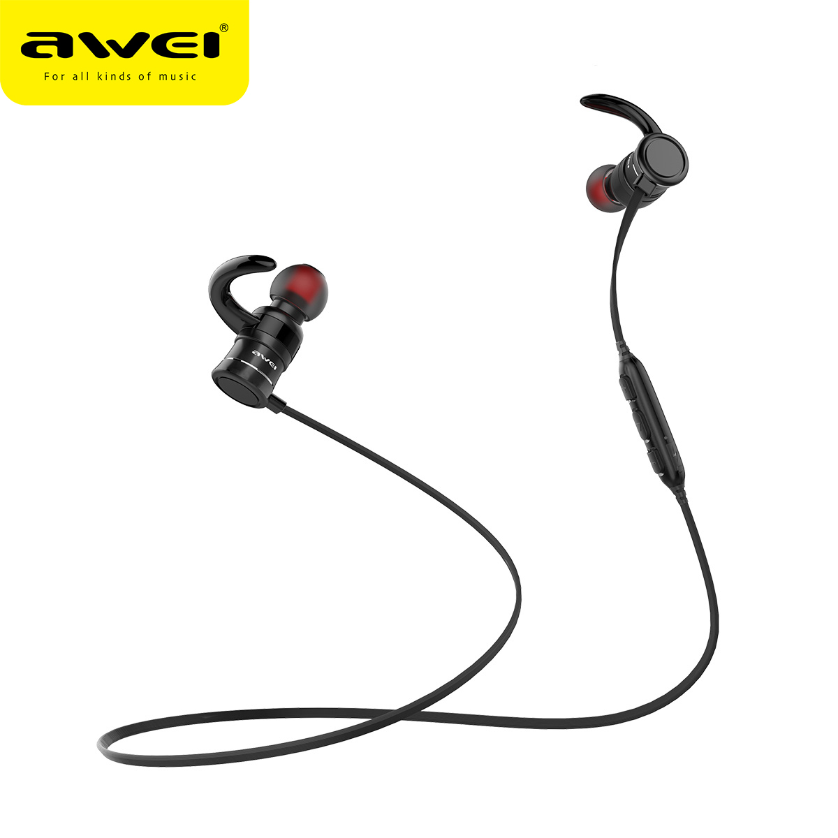 AWEI AK5 Bluetooth Heaphone Wireless Earphone With Magnetic Headset bluetooth Earfone Auriculares Kulakl k cordless earpiece кабель микрофонный onetech pro two xlr xlr 10 m
