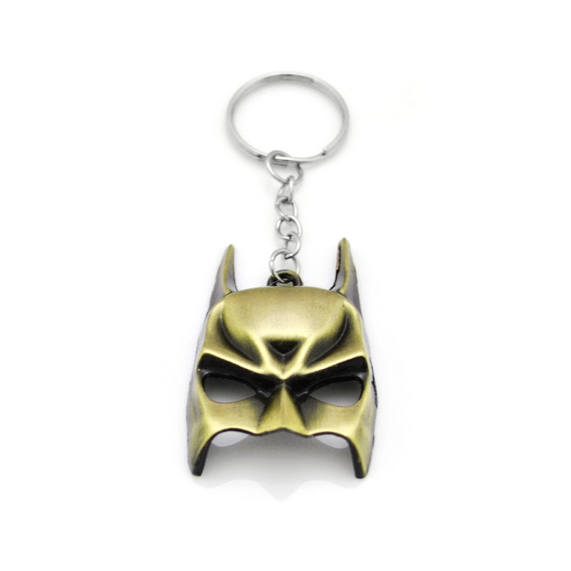 Superhero Euramerican Style The Avengers Series Moives Theme Batman Mask Keychain For Keys Trinket Key Holder Male Present Gift