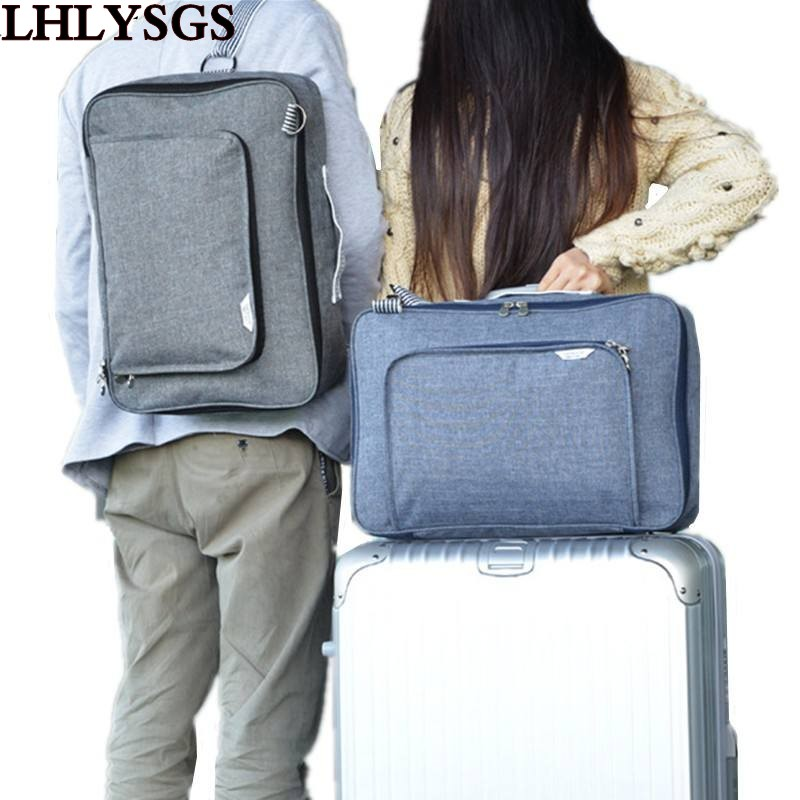 LHLYSGS Brand Designer Unisex Fashion Large-Capacity Trolley Travel Bag For Suitcase Luggage Bag Waterproof Baggage Shoulder Ba