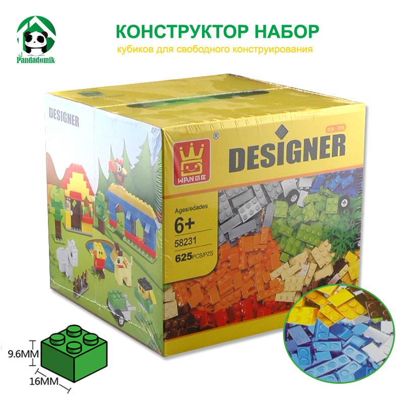 Designer DIY Gift Toy Building Blocks 625pcs Constructor Set Educational Toys Wange Bricks are compatible with lego Bricks Parts lepin 02012 city deepwater exploration vessel 60095 building blocks policeman toys children compatible with lego gift kid sets