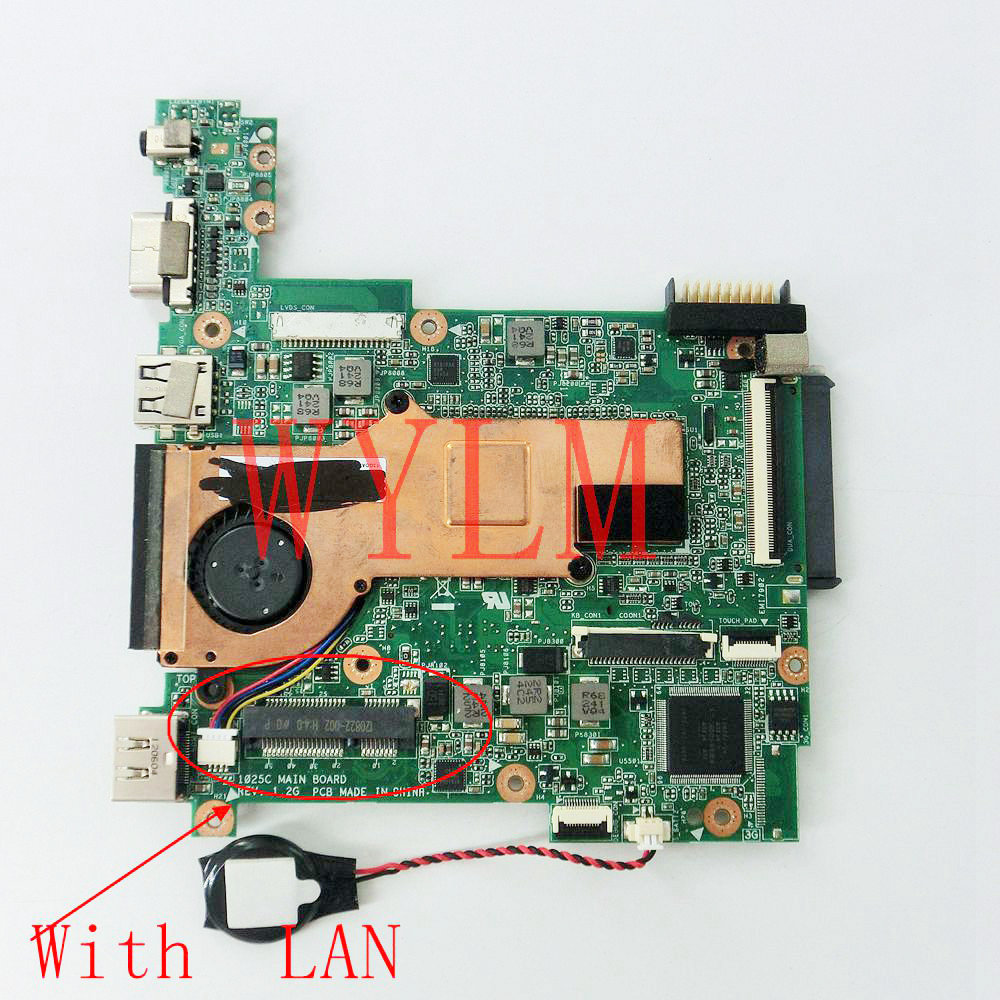 1025C With LAN mainboard REV 1.2G For ASUS 1025C Laptop motherboard MAIN BOARD DDR3 100% Tested Working Well free shipping free shipping 1225b mainboard rev 2 1 for asus 1225 1225b laptop motherboard main board 100